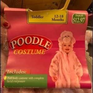 Poodle costume baby toddler size 12-18 months NEW